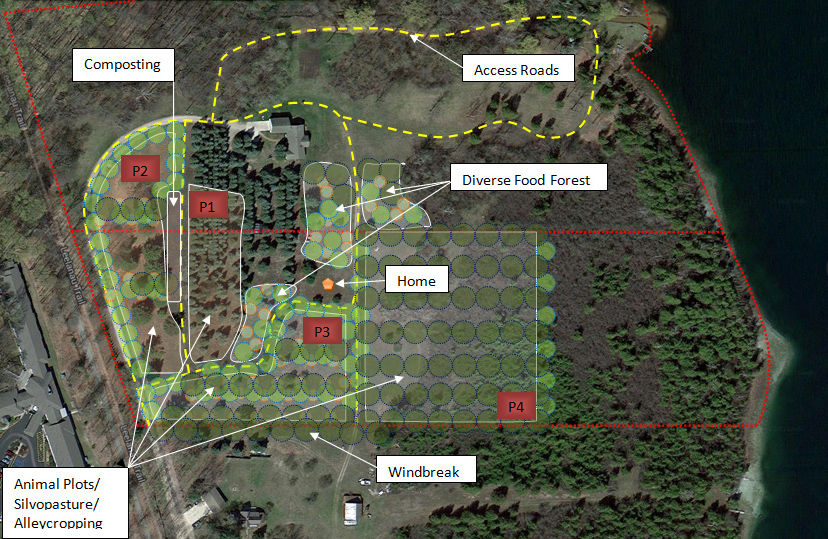 Realeyes Farm Permaculture Design – Zones 2-4 Layout Detail
